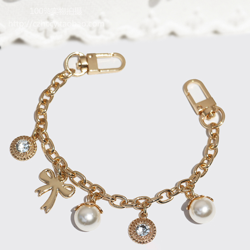 DIY Fashion Decoration 8mm Chains Short  25cm, 30cm  Gold Chains For Bags, Purses, Clutches, Handbags Accessories Bag Charms
