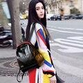 Joypessie Señoras de las borlas de La Manera de LA PU de las mujeres Mochila Mochilas de muy buen gusto ocasional mochila de cuero Negro Mujer Niñas mochilas escolares