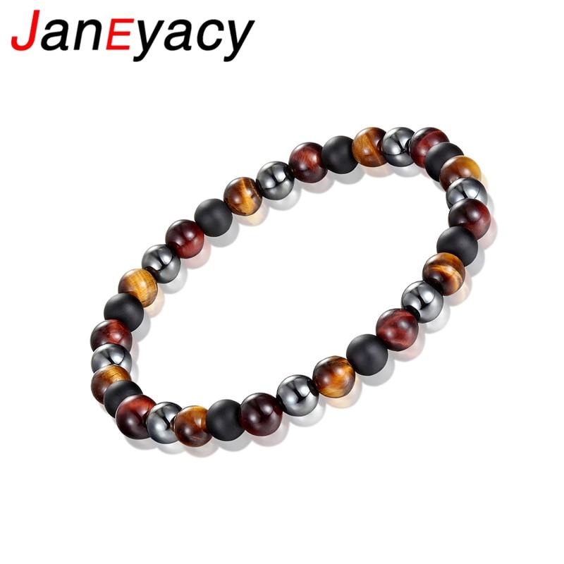 Купить новый брендовый женский браслет janeyacy тигровый глаз мужской