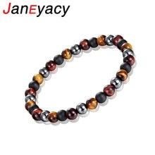 Новый брендовый женский браслет janeyacy тигровый глаз мужской