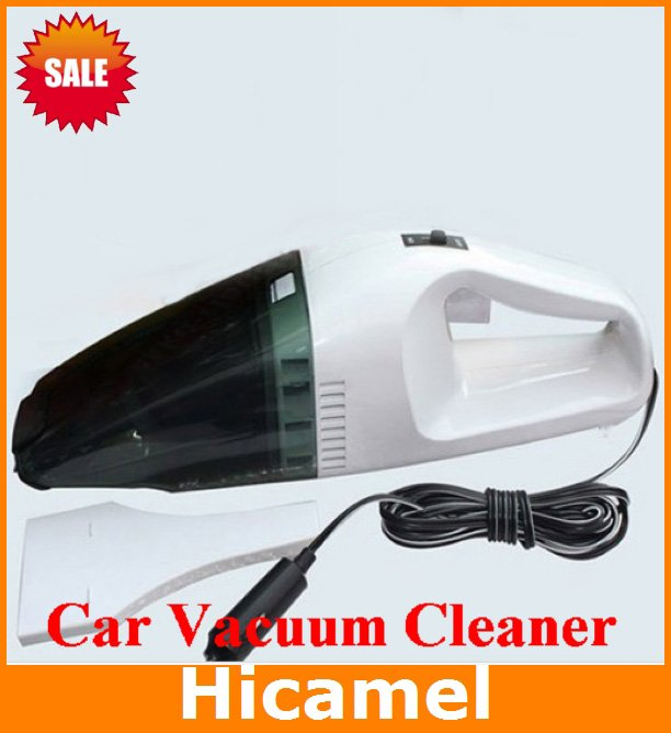 C301 New Arrival Mini Portable Hand Held High Power Car Vacuum Cleaner Office Dust Collector Black White Dry/Wet 60W 12V