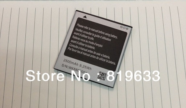2pcs/lot Original battery N8000 N8000+ A9220(Note2)2500mAh Battery for 5.0inch Star N8000 N8000+ TV MTK6575 MTK6577 Freeshipping
