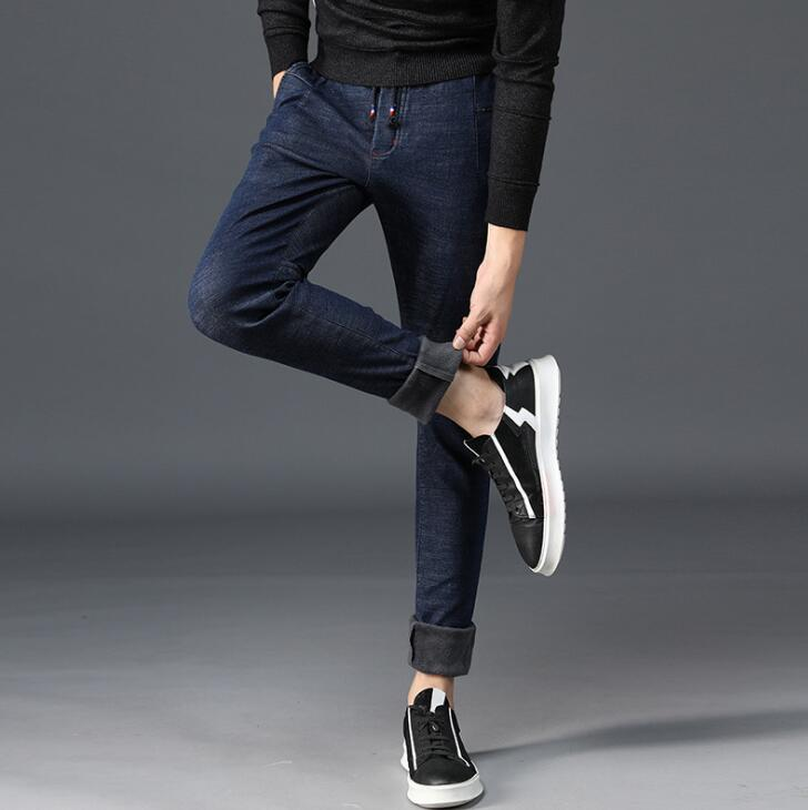 19 Winter Good Quality Discount Men Jeans For Hot Sales Warm Thickening Male Pants 3
