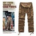 2014 Nuevos mens casual pantalones de diseño pantalones de carga militares guardapolvos sin cinturón 7 Color S-XXL JPG001
