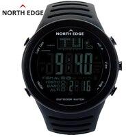 NORTHEDGE Mannen Digitale horloges outdoor horloge klok Vissen weer Hoogtemeter Barometer Thermometer Hoogte Klimmen Wandelen uur-in Digitale Klokken van Horloges op