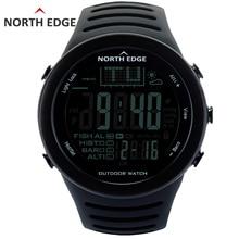 NORTHEDGE Hommes Numérique montres de plein air montre horloge De Pêche Altimètre météo Baromètre Thermomètre Altitude Escalade Randonnée heures