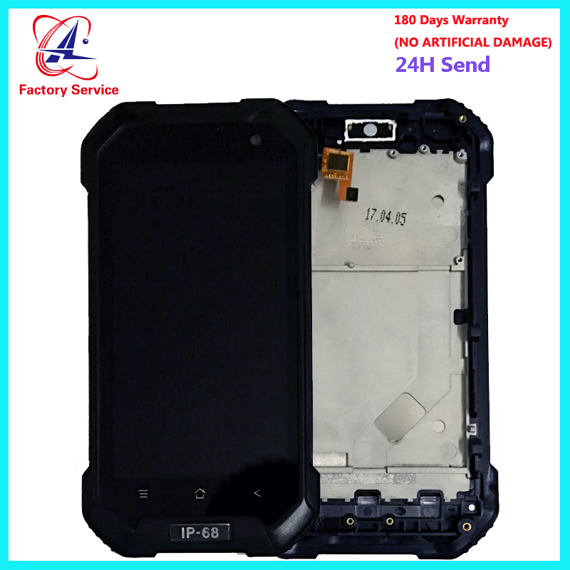 4.7 inch For Original Blackview <font><b>BV6000</b></font> BV6000S <font><b>LCD</b></font> Screen Display+Touch Screen Digitizer Sensor Assembly Replacement With Frame image