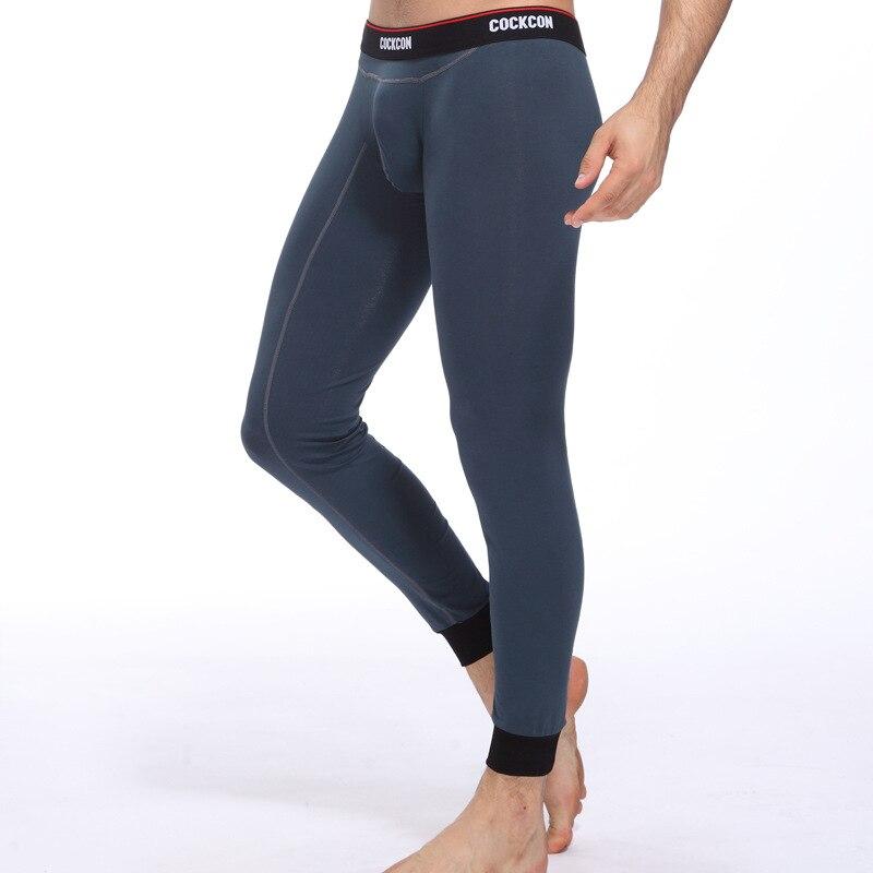 Slim Men Long Johns Autumn/winter Cotton  Warm Leggings  Casual Long Pants