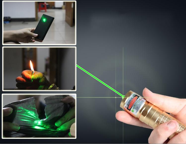 1000MW Green Laser Pointer Pen Adjustable Focus Laser Torch Focusable Burning Star Pointer Flashlight  1500M