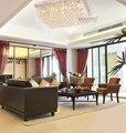 Moderna Contemporânea do Candelabro de Cristal Retângulo Teto Lâmpada Luz Luminária Raindrop para Foyer Sala de Jantar