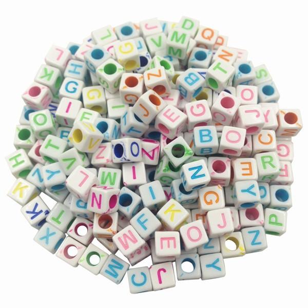 Продажа 100 шт./лот случайный шт./лот / DIY квадратный/круглый цифровой алфавит/письмо акриловые куб для изготовления ювелирных изделий ткацкий станок группа браслеты