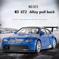 1:32 Aleación Tire Volver Modelos de Coches, Metal Funde, M3 GT2, Automóviles de Juguete Musical & Flashing, modelos de aleación de coche clásico cars collectio