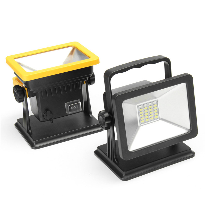 цена на 24 LED Flood Light Rechargeable Portable Floodlights Emergency Warning Outdoor Lighting With US Adapter Car Charger