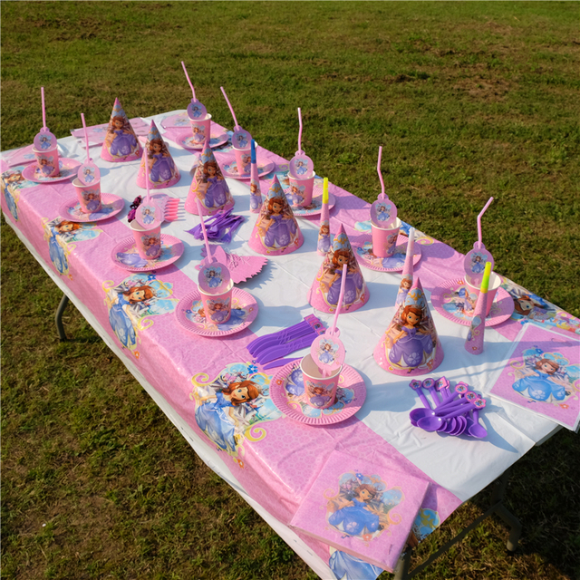 Princess sofia the first theme kids birthday party decoration set party supplies baby birthday for Country garden 6 pack