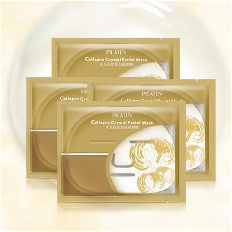 5 x PILATEN Collagen Crystal Facial Mask Essence Sheet Moisture Face Packs Skin Care