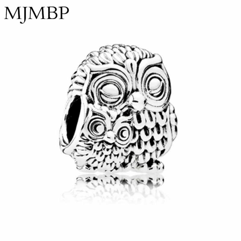 Retro Mother and Child Owl DIY Charms Nice Vintage Beads Fit Pandoraa Gift For Bracelet & Necklaces Jewelry making Women Gifts