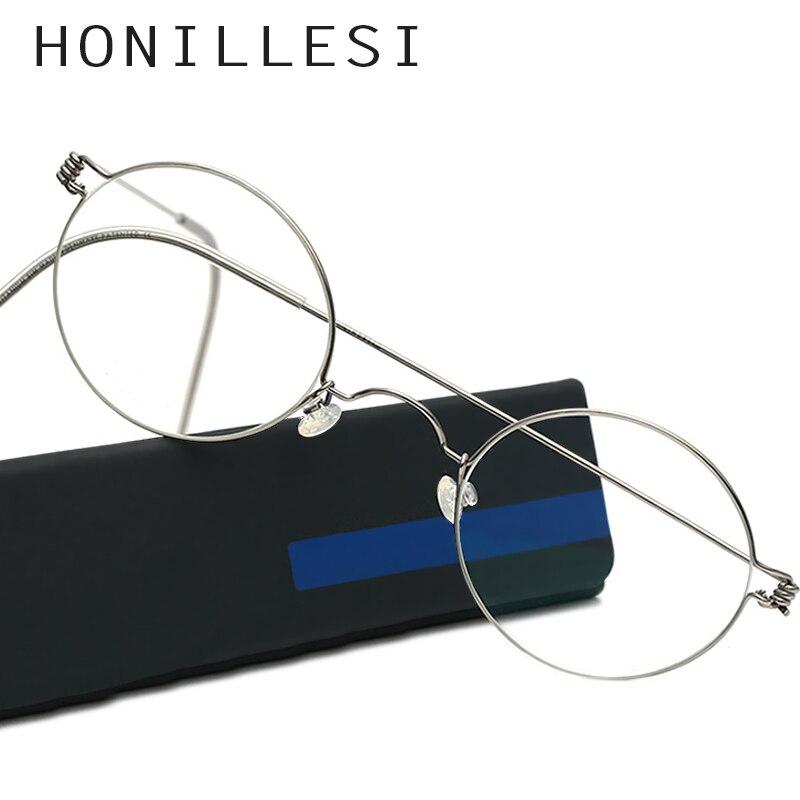 Männer Runde Dänemark Handgemachte Koreanische Brille Rahmen Schraubenlose Brillen Brillen Rezept Morten Optische Rahmen