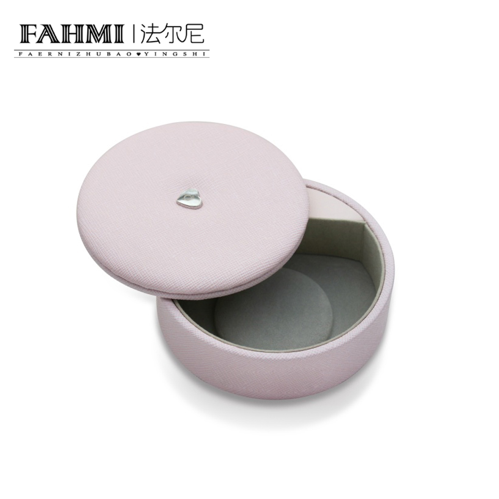 FAHMI Original Charm Ring Bracelet Earrings Necklace multi-Function Round Rotating Cover Storage Protective Box Jewelry  0