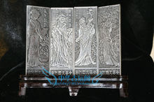 Chinese Boutique collection Tibetan silver carving Four beauties screen