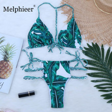 Green Bikini 2019 Swimwear Women Swimsuit Braided Bikini Set Sexy Bathing suit Bather Cut Out Bikinis Maillot De Bain 8 Colors все цены
