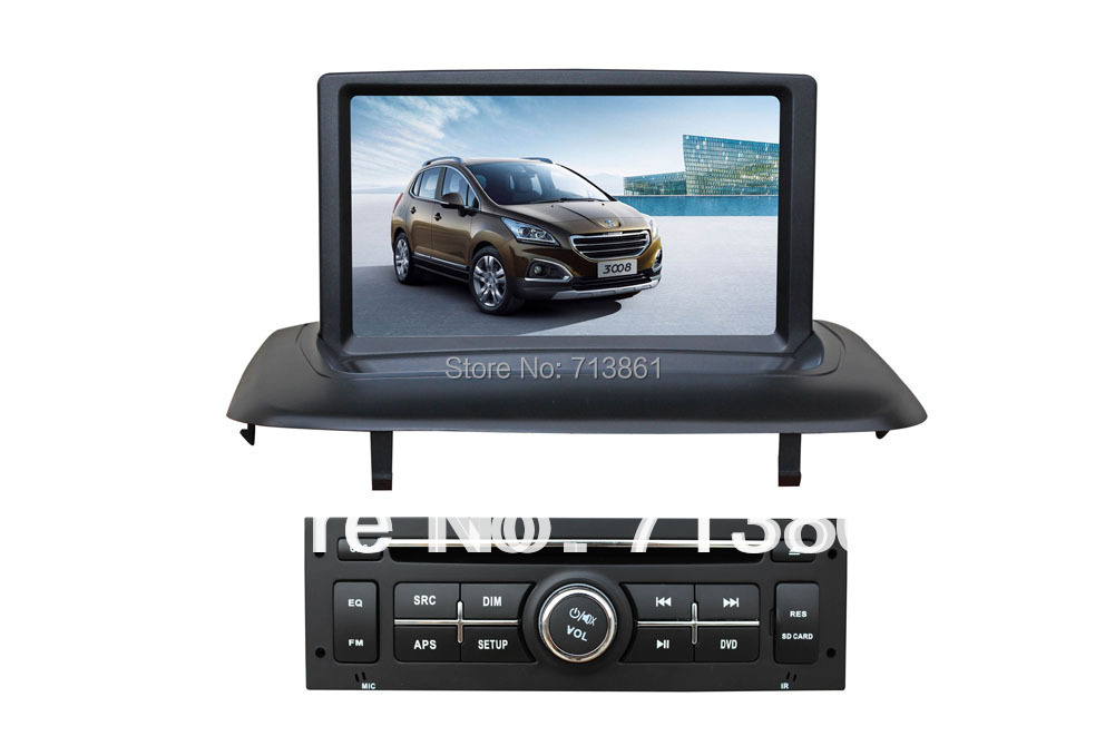 8 fit pour peugeot 3008 2013 lecteur dvd de voiture voiture gps navigation wince 6 0 bt. Black Bedroom Furniture Sets. Home Design Ideas