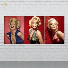 Wall Art HD Prints Canvas Art Painting Modular Picture And Vintag Poster Marilyn Monroe Canvas Painting Home Decor 3 PIECES frameless dancing girl oil painting butterfly wall poster canvas art hd modular picture home decor 3 pieces