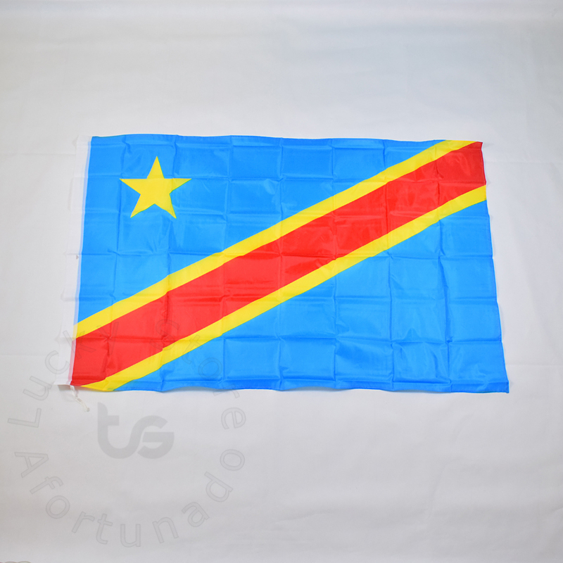 Congo  90*150cm   Democratic Republic Of The Congo Flag  Banner Free Shipping National Flag For Festival Home Decoration  Flag