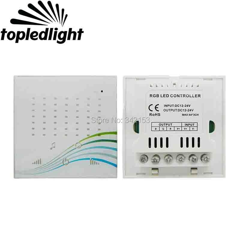 Touch Panel Music Led RGB Controler DC12-24V Common Anode TM14 D For 5050 RGB Led Strip Light Portable Lighting Accessories led amplifier dc12v 24v lt 3637 common anode to common cathode led power repeater controller for rgb led module