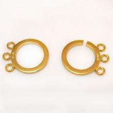 Застежка для ювелирных изделий с тройным золотом 16x19 мм