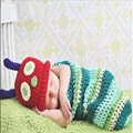 Hot Soft Explosion Models Hand Crochet Wool Baby One Hundred Days Newborn Baby Cap Photography Props Photography Infant Clothing