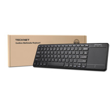TeckNet Wireless Bluetooth Touch Keyboard with Built-in Multi-touch Touchpad For Windows PC, Smart TV and Android OS Tablet