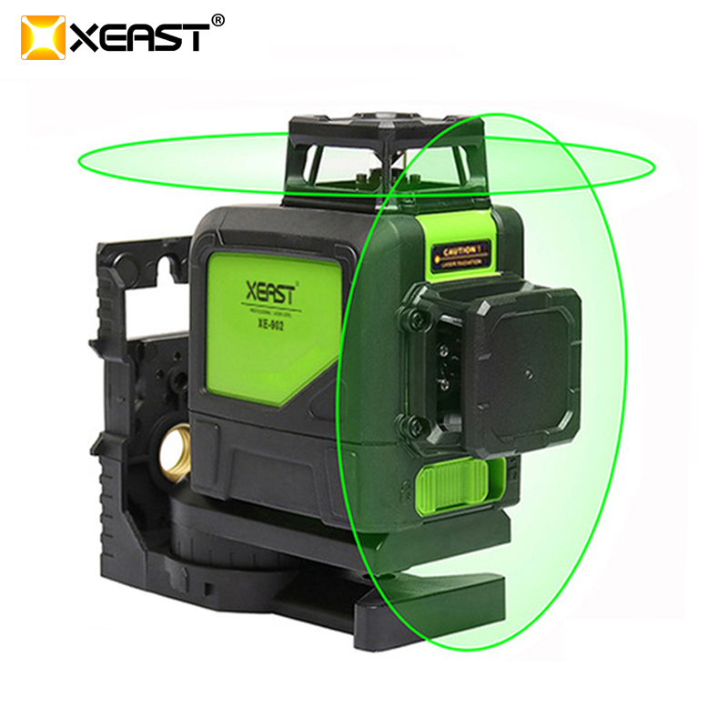 XEAST XE 902 8 Lines Green Laser Levels Self Leveling 360 Horizontal and VeArtical Cross Super