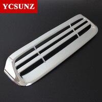2012-2014 Dla Toyota Hilux Części Chrome ABS Car Styling Akcesoria Małe Kaptur Miarki Wylot Pokrywa Dla Toyota Hilux Hilux Ycsunz