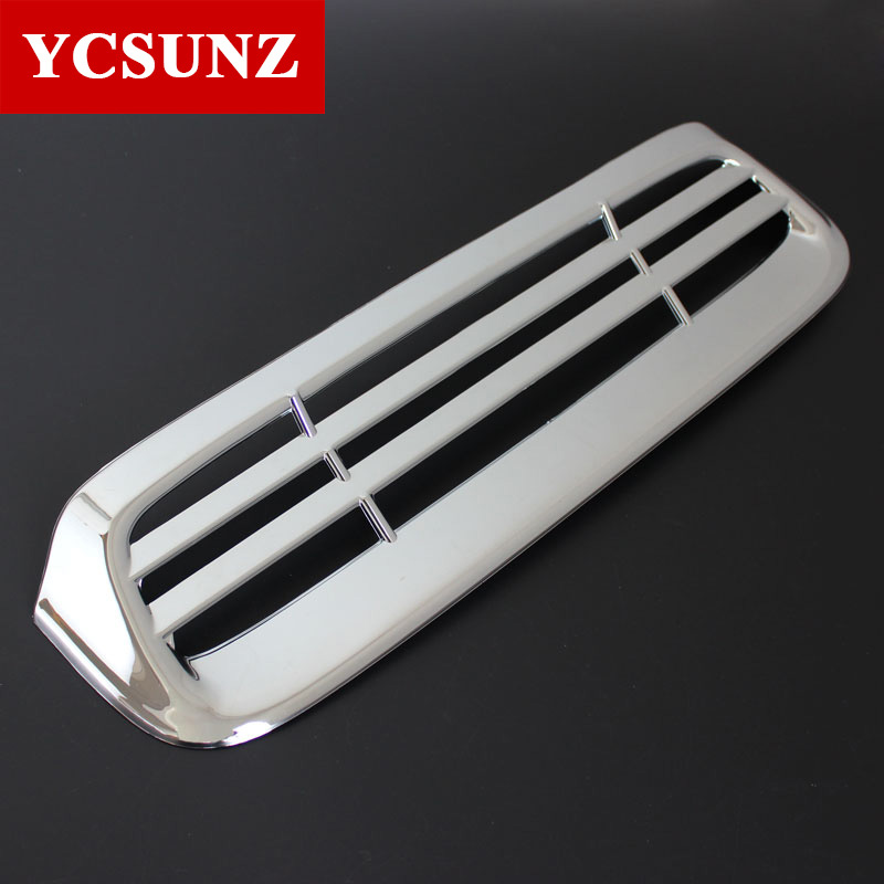 Chrome Parts ABS Car Styling Hilux Accessories Small Hood Scoops Outlet Cover For Toyota Hilux 2012 2013 2014