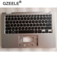 GZEELE New Palmrest COVER for Dell Inspiron 11 3000 Series 3152 3153 upper case keyboard bezel silver color US version