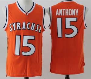 cf111460792c Throwback Men s Carmelo Anthony 15   Syracuse University Basketball Jerseys