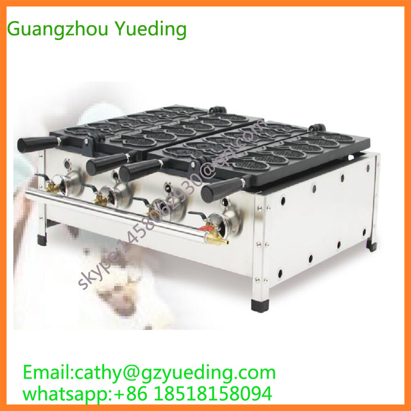 Hot Sale Gas Fish Taiyaki Waffle Machine/ fish taiyaki machine/close mouth fish waffle ice cream filling taiyaki grill taiyaki fish maffle maker waffle ice cream machine
