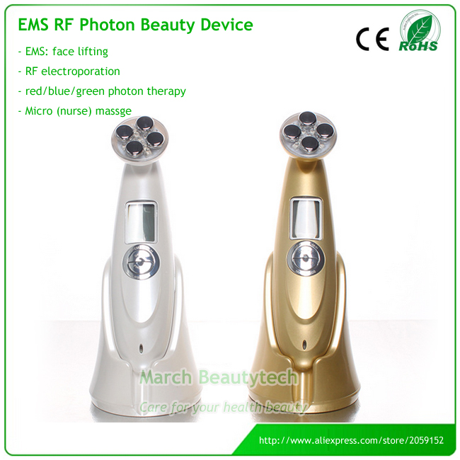 Home Use No Needle Mesotherapy RF Electroportation Anti-aging Whitening EMS Skin Lifting Photon Facial Beauty Care Massager