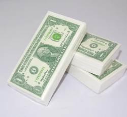 Новый дизайн ткани 10 шт. Салфетка Бумажная Творческий платок 1 доллар Свадебные бумаги или день рождения событие украшения поставки