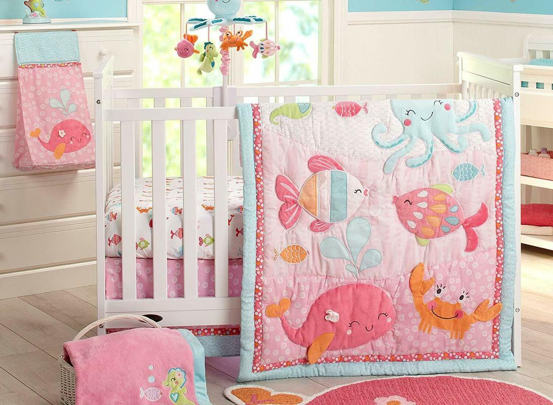 Under The Sea 4pc Baby Girl Crib Bedding Set By Carters Octopus Fish Seahorse Baby Set Crib Bedding Set Girl Crib Bedding Set