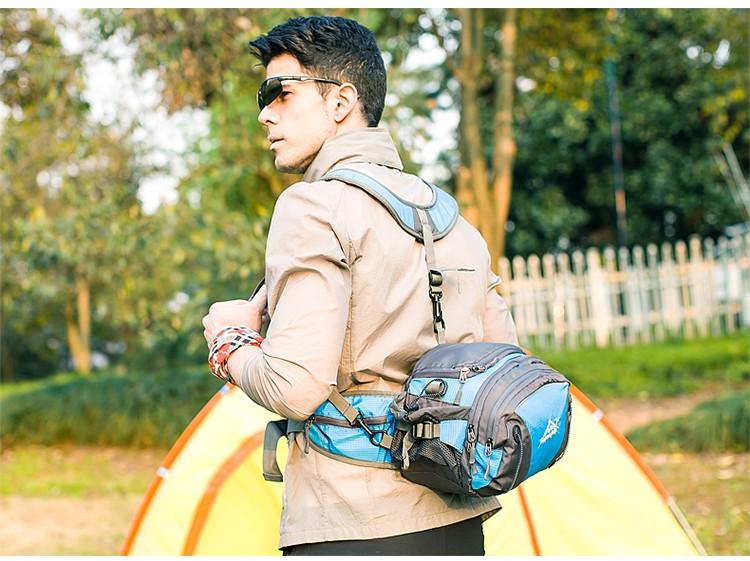 Men Women Sport Waist Bag Pack Backpack With Bottle Holder Outdoor Exploration Travel Casual Cycling Gym Storage Bag Packs (9)