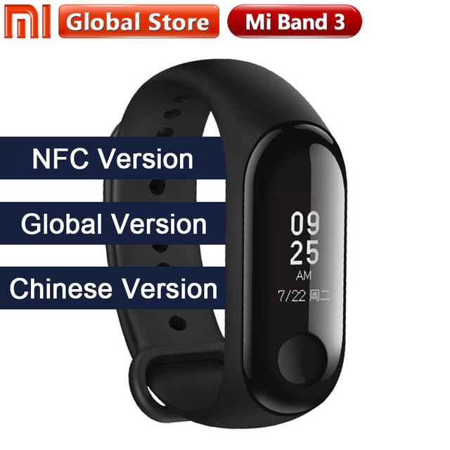"New Multi Language Original Xiaomi Mi Band 3 Fitness Tracker 0.78"" OLED Big touch Screen 2018 New Smart Wristbands Bracelet"