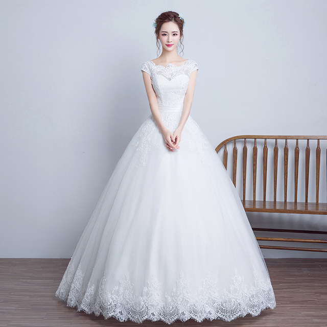 white china sexy beautiful wedding dresses plus size 2017 with sleeves simple vestido de noiva renda robes de mariage princess