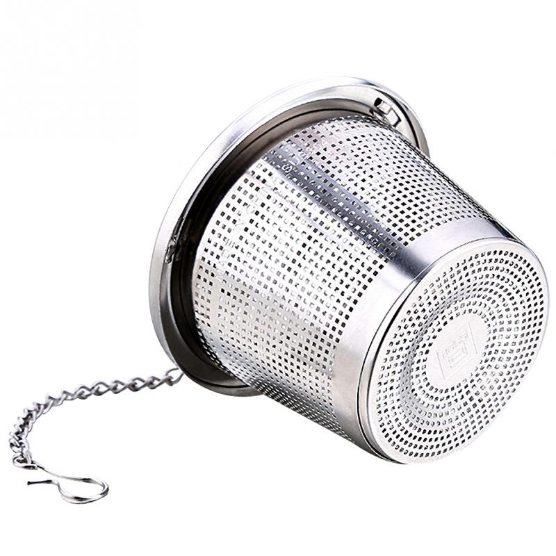 Infuser Filter Mesh Tea Infuser Threaded Connection Stainless Steel With Extended Chain Hook For Hanging On Teapots Cup #704