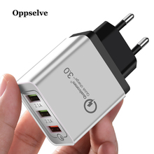 QC 3.0 3 USB Charger, Oppselve Universal Quick Charge Mobile Phone Charger Fast Charging Wall For iPhone Samsung