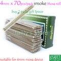 Songlonw naturais Chinês artemísia fumaça moxa moxabustão vara rolo 4x118mm 70 unidades/pacote 2 pacote/lote Presente 1 pcs dispositivo moxa