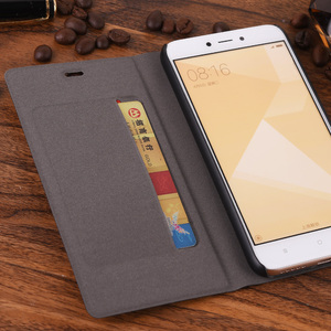 Image 2 - Роскошный тонкий кожаный чехол бумажник для Xiaomi Redmi 5A, чехол для телефона с отделением для карт