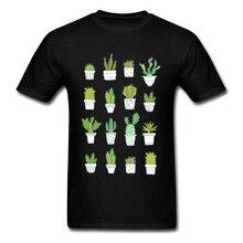 Cactus Tops Tees Men T Shirt Summer Clothing Lovely T-shirt 2018 Newest Crewneck Family Short Sleeve 100% Cotton Fabric TShirt