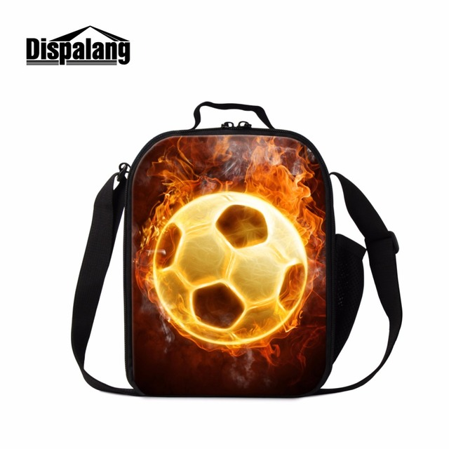 Dispalang Ball 3D Pattern Lunch Cooler Bags for School Children Fashion Small Lunch Bag Boys Messenger Meal Bag Printed Food Bag