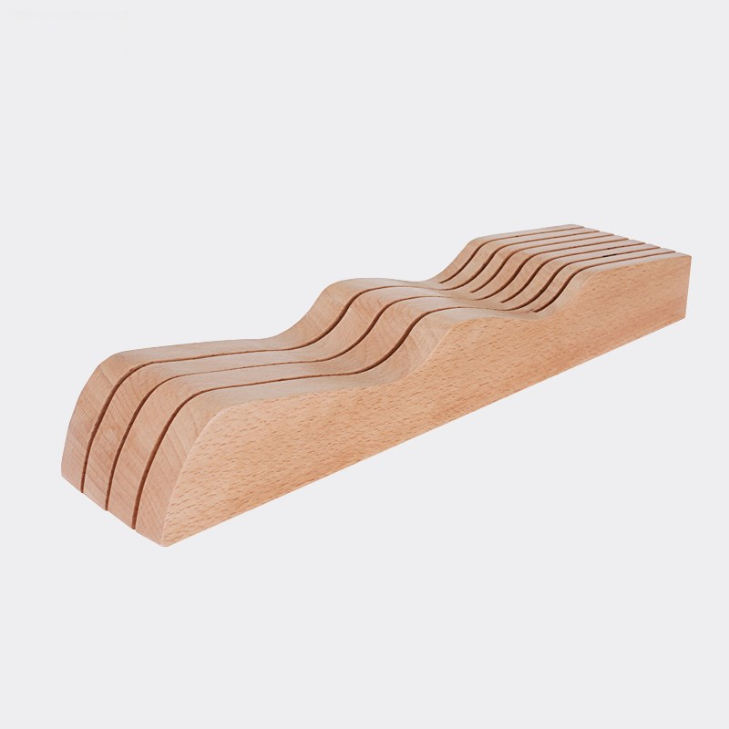 Wooden Kitchen Knife Holder Solid Wood Kitchen Utensil Storage Drawer Creative Space-Saving Knife Racks Kicthen Accessories